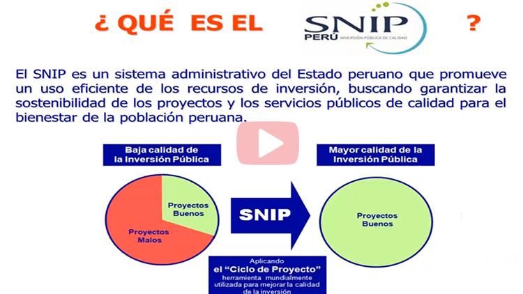 ¿Qué es el SNIP y en qué consiste un Ciclo de Proyecto de Inversión?