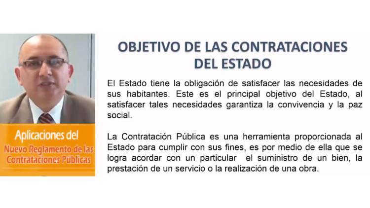 Aplicaciones del Nuevo Reglamento de las Contrataciones Públicas