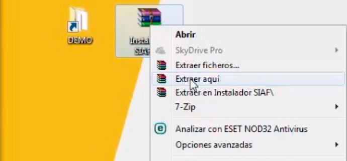 Instalación Demo SIAF