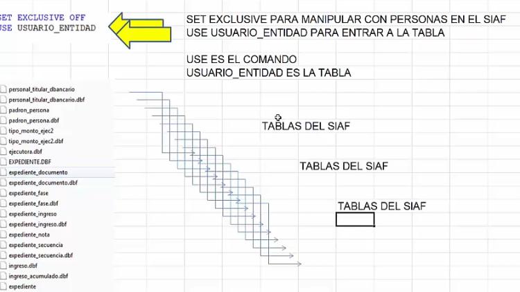 Soporte SIAF: ¿Cómo editar las tablas del SIAF con Visual FoxPro?