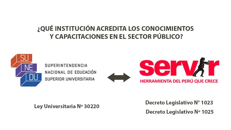 Capacitación en el Sector Público: ¿Qué Institución acredita los conocimientos y capacitaciones: La SUNEDU o El SERVIR?