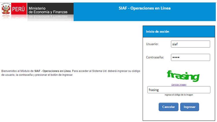 SIAF WEB ¿Cómo ingresar al sistema SIAF WEB?