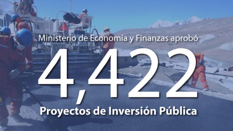 MEF aprobó 4,422 proyectos de inversión pública