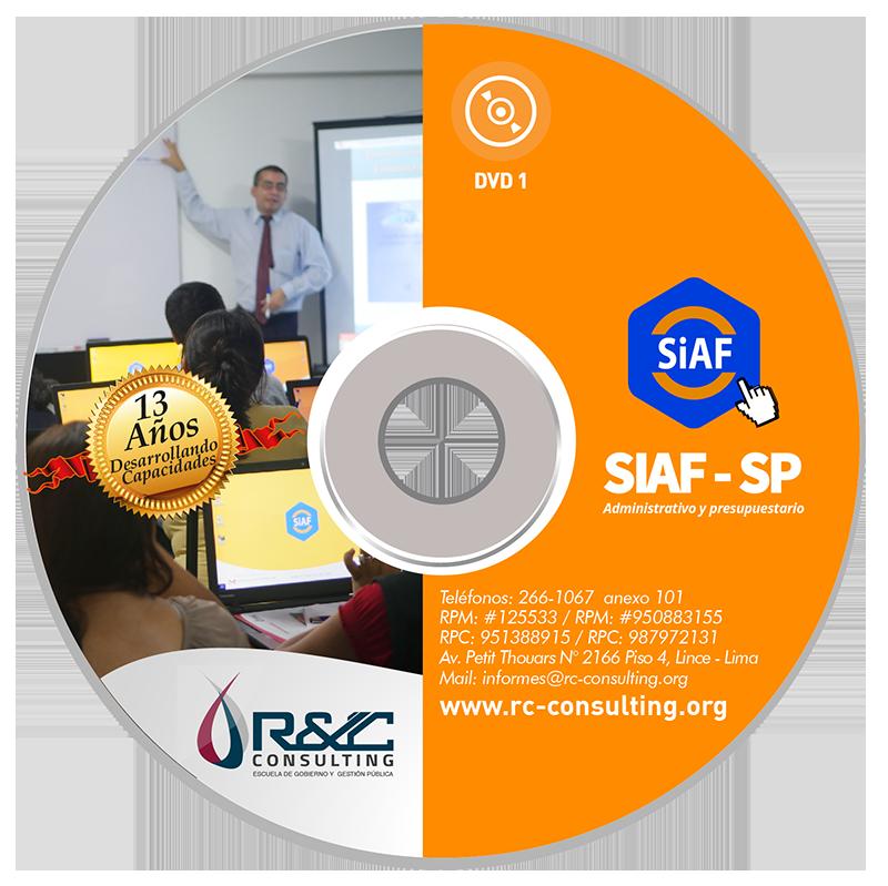 portada virtual siaf1 011 Capacitacion de Gestion Publica en DVD