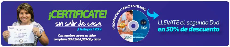 certificacion en gestion publica siaf siga seace sin salir de casa Capacitacion de Gestion Publica en DVD