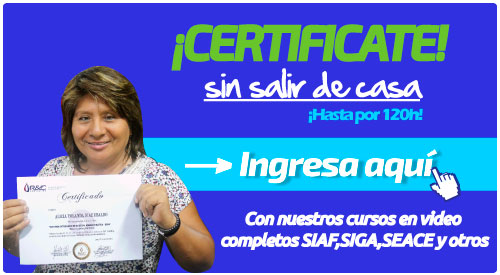 certificarme en gestion publica SIAF SP I Nivel intermedio