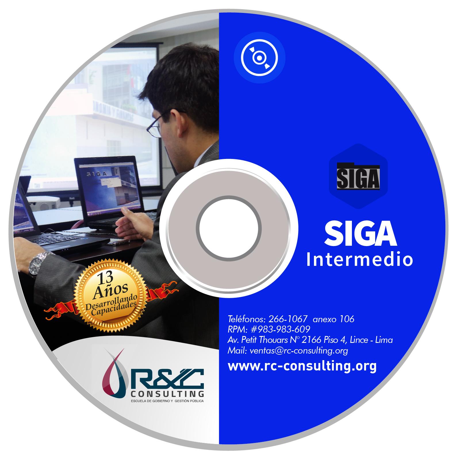 portada siga intermedio 01 Capacitacion de Gestion Publica en DVD