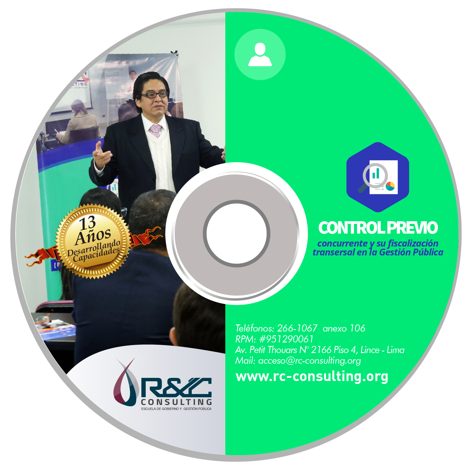PRESENCIAL CONTROL PREVIO Capacitacion de Gestion Publica en DVD