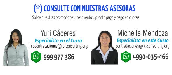 pago en linea asesoras osce Contrataciones del estado I Curso Integral