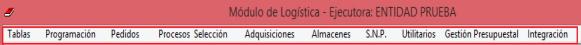 siga módulo de logística