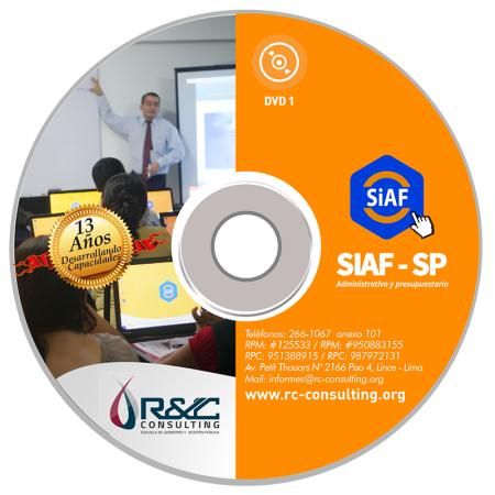 DVD CURSO VIRTUAL SIAF SP 2017