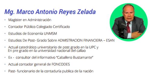 Mg Marco Antonio Reyes Zelada
